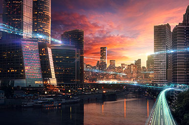 Constructing Futuristic City In Photoshop