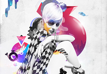 Creating a Edgy, Colourful Fashion Photo-manipulated Artwork