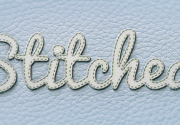 Create Realistic Stitched Text Effect in Photoshop